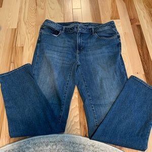 Eddie Bauer Slightly Curvy Slim Straight Jeans S16